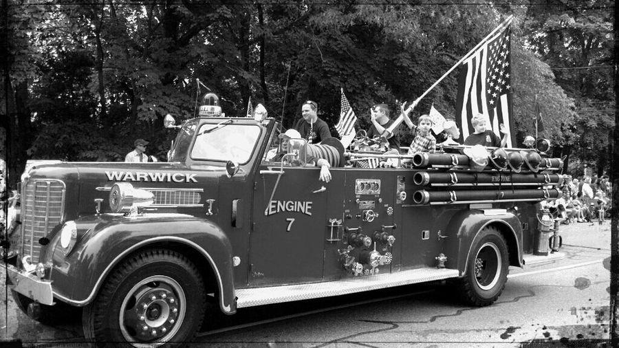 GaspeeDays Parade Fire Truck American Flag Fireengine Gaspeedayparade Warwick Rhode Island