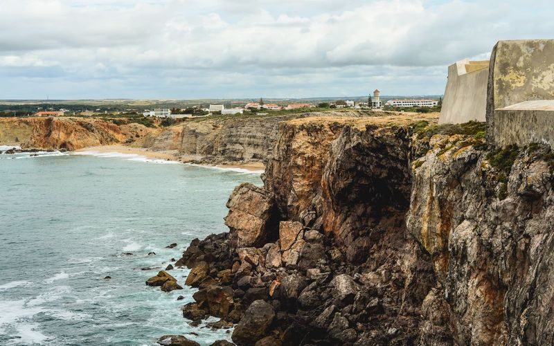 Coastal views in Sagres Landscape No People Ocean Sagres Portugal Sky Sea Water Cloud - Sky Beach Land Nature Beauty In Nature Tranquil Scene Day Outdoors Scenics - Nature Tranquility Sand