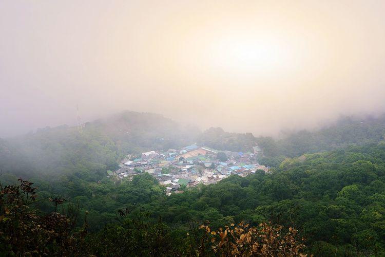Heavenly beauty village in the mountain
