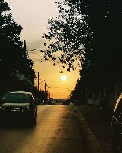Sunset tunisia Sunset City Day Nature Summer Street Sky