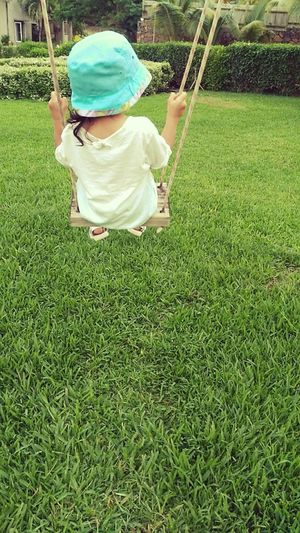 Grass Childhood Full Length One Person Green Color Outdoors Real People Nature