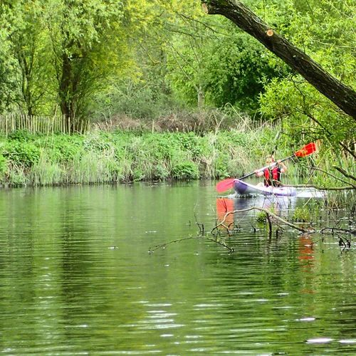 Kayaking Kayak Riverstour Nature Wild River Perceptionscooter Daughter Adventure