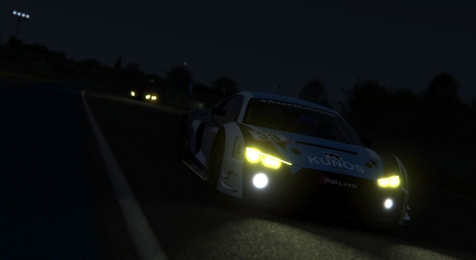 Audi R8 GT3 EyeEmNewHere Audi R8 Lemans24hr Assetto Corsa Gt3 Black Background Illuminated Car Sky Racecar Motorsport Sports Car