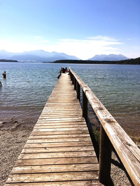 Beauty In Nature Water Lake Pier Tranquility Scenics Nature Mountain