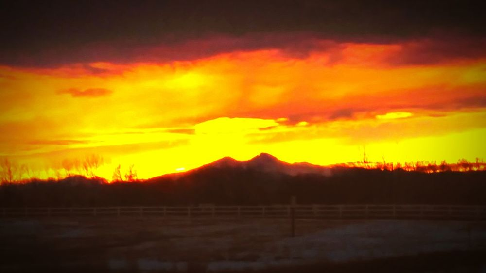 Sunset Colorado Colorado Mountians Beautiful Orange Sky Eyem Best Shots Eye4photography  EyeEmBestPics EyeEm Gallery Colorado Sunset Loveland Colorado Outdoor Photography