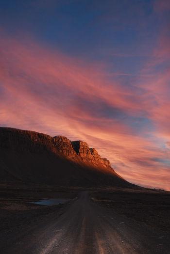 Golden sunset iceland