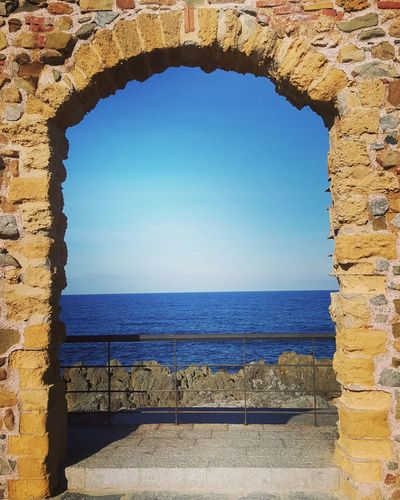 The line where sky meets the sea💖 Sea Blue Clear Sky Horizon Over Water Water Sky Outdoors Nature Beach Missthesummer Beachphotography Family Sealife Seascape Sea And Sky Blue Sky Sky_collection Blue Sea Chiccaingiro Sicilyphotography Wintertime Sicily, Italy Cefalù2016 Nature Sicily