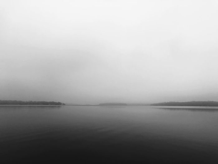 Water Scenics - Nature Tranquil Scene Tranquility Sky Beauty In Nature Nature No People Waterfront Non-urban Scene Outdoors Fog