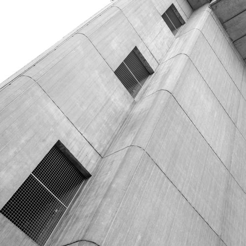 Gent / Belgium - ICC Building brutalism - Architects Geo & Dirk Bontinck Sosbrutalism Architectural Feature Architecture Brutal_architecture Brutalism Building Building Exterior Built Structure City Concrete Day Exterior Fine Art Photography Geometric Shape Low Angle View Modern No People Office Building Outdoors Repetition Sky Tall - High Urban Geometry Pivotal Ideas Premium Collection The Graphic City