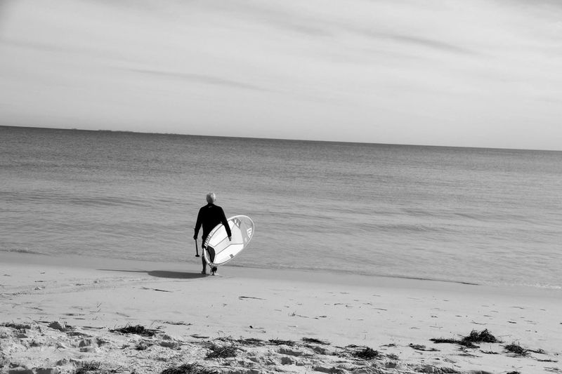 Sea Beach Sand Lifestyles Water Shore Nature Sky Full Length Outdoors Surfboard Canon7d  Perth Australia Perth Western Australia Day Wave Black & White Blackandwhite Blackandwhite Photography Lifestyle Canon 7D Canon Canonphotography Photography