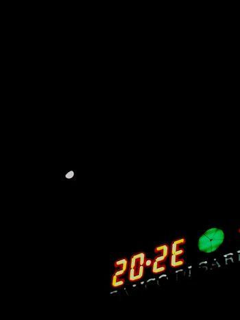 Illuminated Night Text No People Neon Moonlight Moon Sky Black Sky Moontime