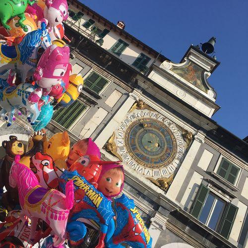 No People Details Home❤ Travel Destinations Tourism Architecture Multi Colored Day Clock Brescia Sky Festa Del Patrono Fiera Di San Faustino 15 Febbraio Piazza Loggia