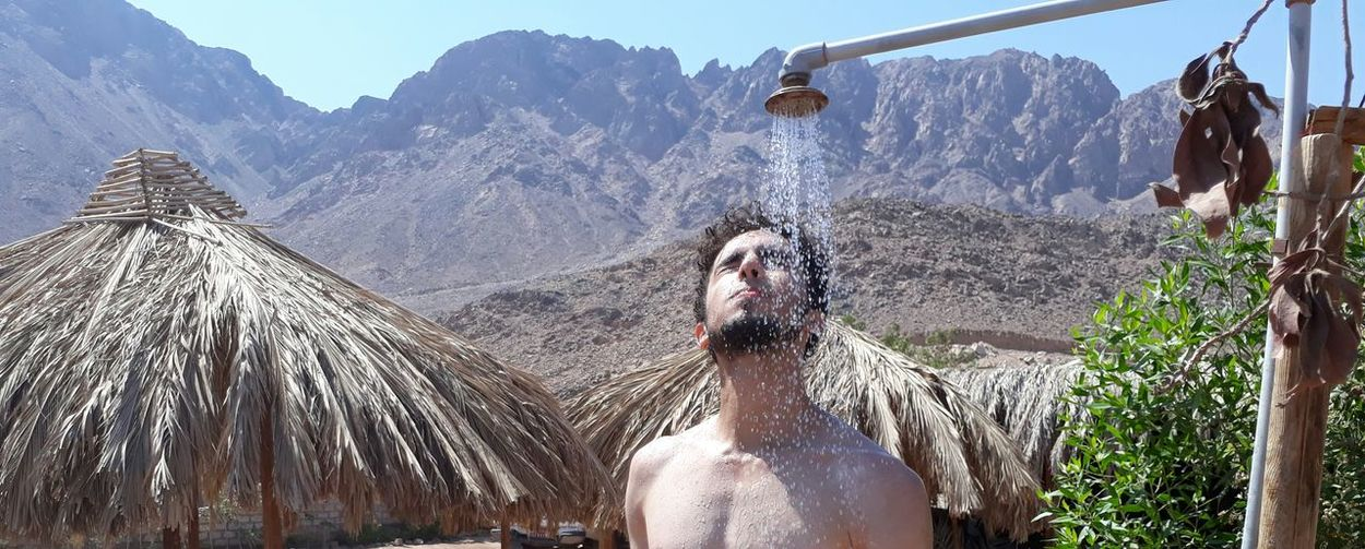 After snorkeling shower at three pools dahab. Chilling Dahab Egypt EyeEm Best Shots EyeEm Nature Lover EyeEm Gallery Mountain View Nature Summertime Art Beauty Beauty In Nature Mountain Photography Red Sea Sea Shower Sinai Summer Thisisegypt Water