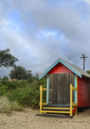 The Great Outdoors - 2016 EyeEm Awards Essence Of Summer Beach Huts Beach Photography Shelter Colorful Beachphotography Beach House Beach Hut BeachHouse Beach Huts Sky Tree Little House Small House Home From Home Holiday Vacation Time To Relax Pastimes Childhood Memories Mornington Peninsula Australia