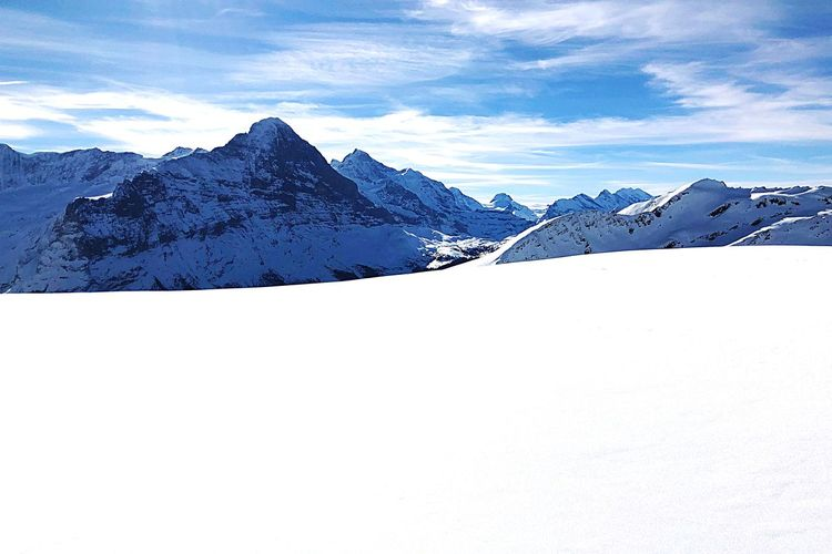 Eiger Eiger EyeEm Selects Sky Mountain Snow Cold Temperature Winter Scenics - Nature