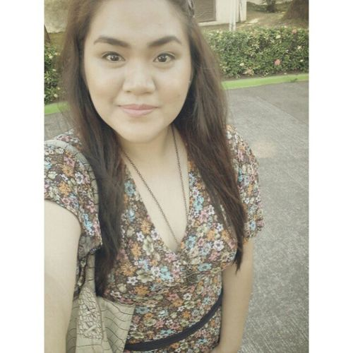 Floral dress for today! Ootd FOTD Plumpinay Plussized effyourbeautystandards igph curvy curvygirls igerspinay pinoy beauty selfie me graduation 2013 tagsforlikes kikme l4l igerslaguna
