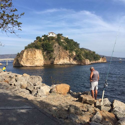 Fishing Lifestyles Water Day Outdoors Isle Niterói Brazil Sunday Relax Leisure Activity Sea Seaside Live For The Story