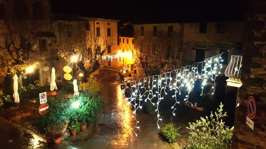 Night Illuminated Celebration Christmas Decoration City Holiday Italy Italianlandscape Small Town Atmosphere Romantic❤