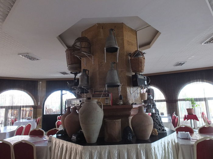 SELIME Catedreal Art And Craft Close-up Day Human Representation Indoors  Male Likeness No People Sculpture Selime Meryem Ana Kilisesi Statue Table İhlara Valley