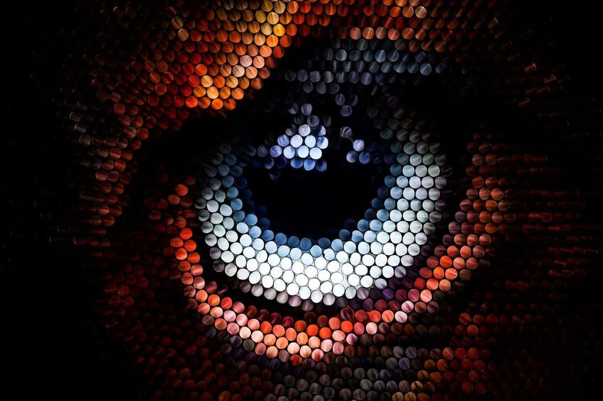 Illuminated No People Pattern Concentric Red Close-up Eye Animal Themes Red Textured  Multi Colored Abstract Straws Strawcamera Pixelated See The Light Visual Creativity