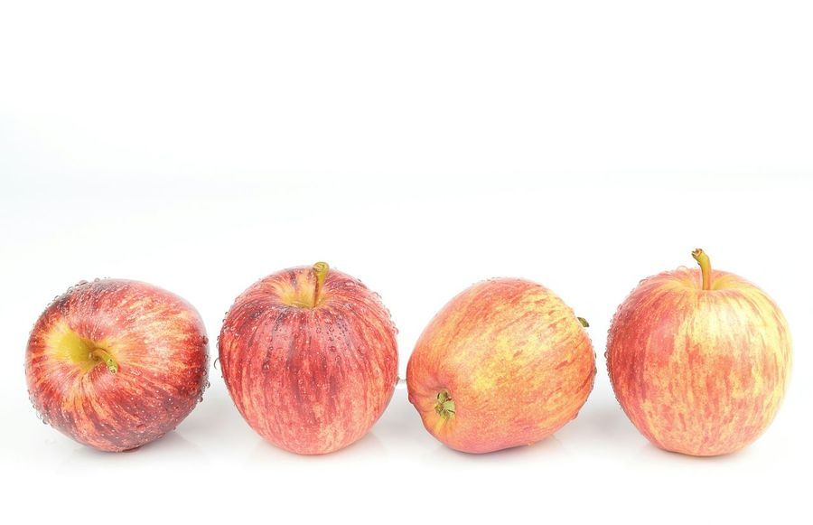 Fresh apples with drops Healthy Eating Food And Drink White Background Food Fruit No People Day Apples Apple - Fruit Vitamin Red Drops Of Water Freshness Eating Group Small Vitamins