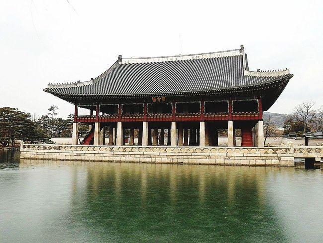 Frosted Lake Palace Gyeongbokgung Palace, Seoul Korea Winter In Seoul