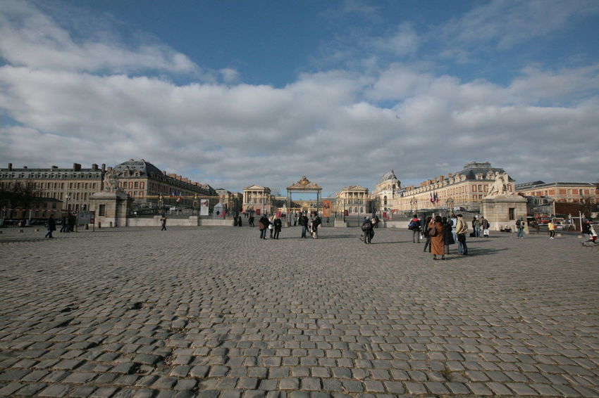 France. Versailles France Versailles Palace Architecture Building City Cloud - Sky Day Group Of People Lifestyles Nature Outdoors Real People Street Town