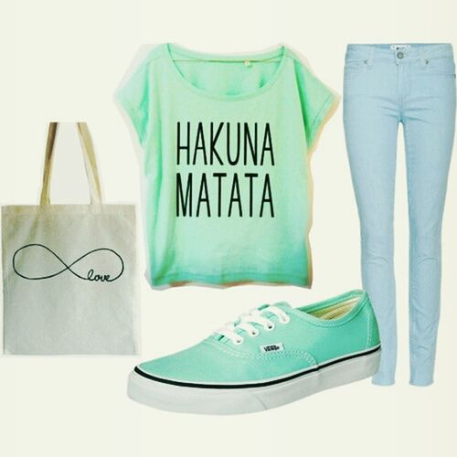 swag#vans#hakuna matata#green