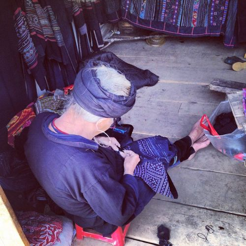 Cat-Cat Factory. Travelling Handcraft Tribe Hmong