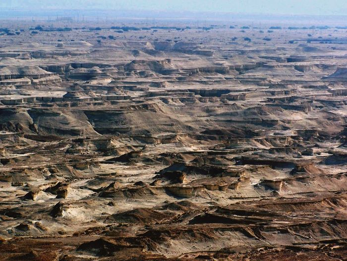 Scenic view of judean desert