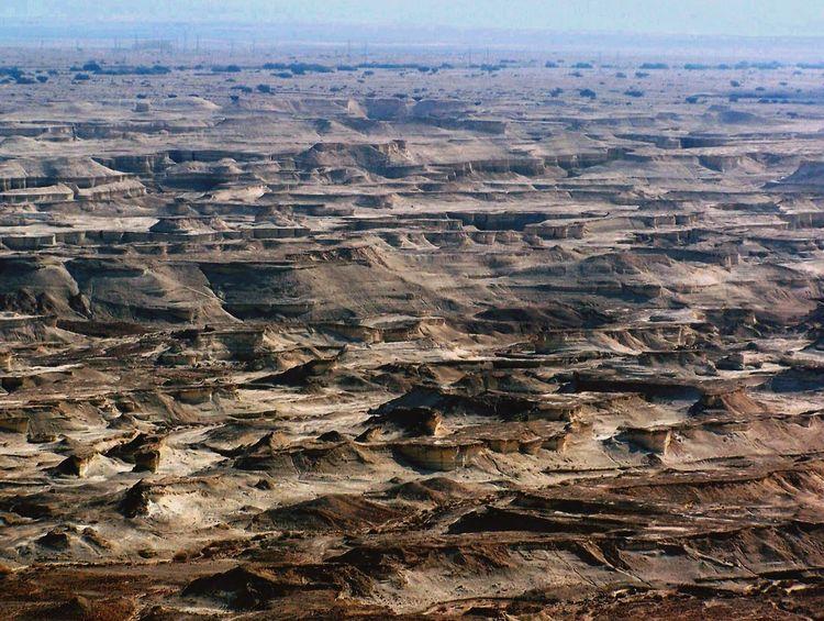 The KIOMI Collection Judean Desert Sand Sandstone Cliffs View From Above