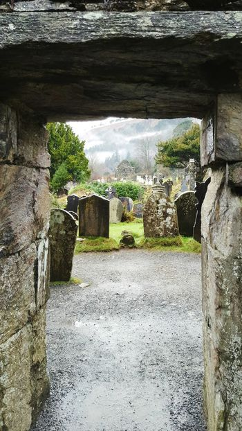 No People Day Outdoors Graveyard Collection SpookyHalloween Religion Ancient Architecture Ancient History Ireland Lovers Glendalough Fog Beauty In Nature Sunlight Close-up Nature