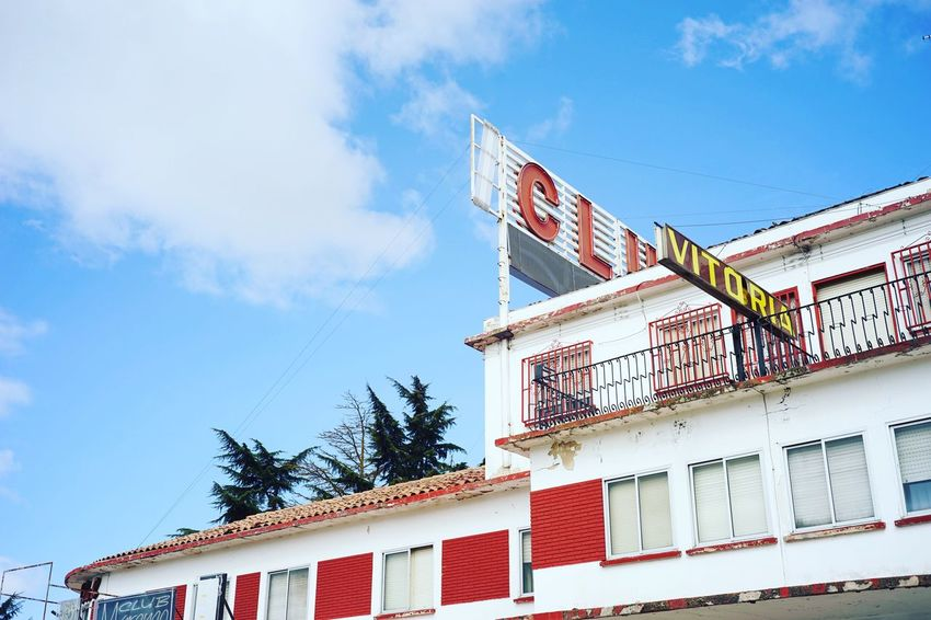 SPAIN Architecture Building Exterior Vintage Sky No People Backpacking Sevilla Mexico Journey Yellow Sky And Clouds Clear Sky Hotel Motel Roadtrip Low Angle View Noontime  Lunchtime España Wind