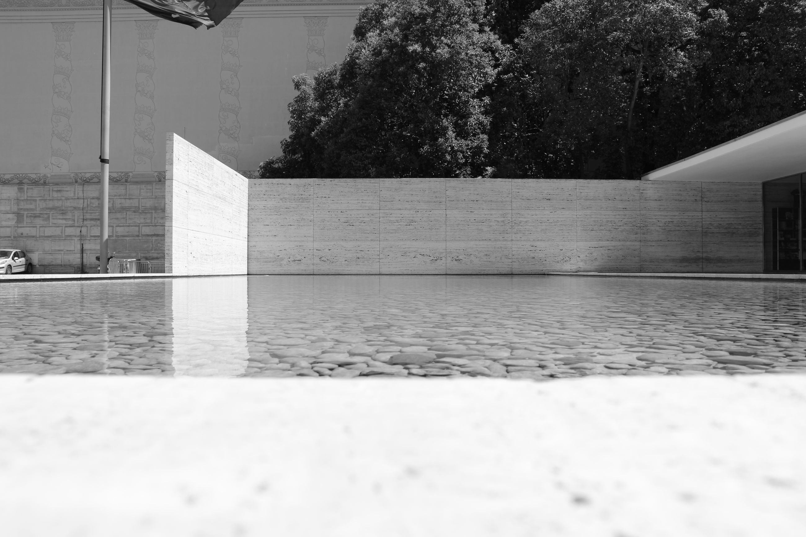architecture, built structure, tree, building exterior, water, surface level, day, no people