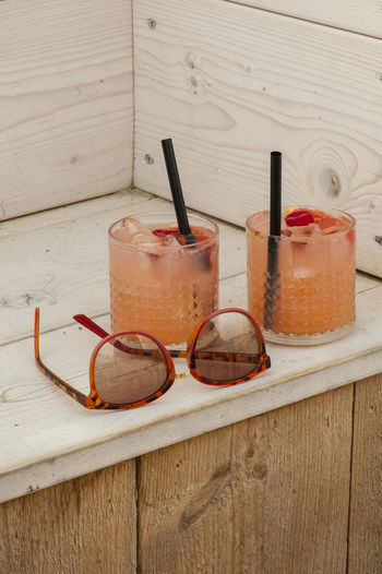 Beach Beachparty Cocktails Drinks Icecubes Straw Sunglasses Wood First Eyeem Photo