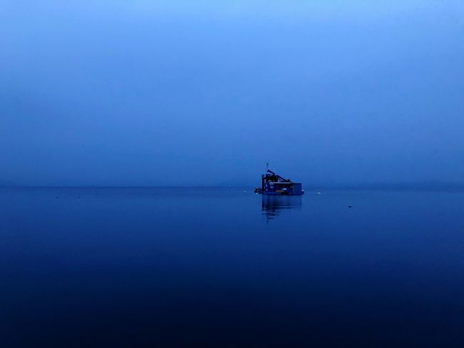 Nostalgia Nosun Sorrow Solitude Lonliness Lake Water Tranquility Tranquil Scene Reflection Beauty In Nature Sea Outdoors Nature Scenics Blue Horizon Over Water No People Day Clear Sky Sky