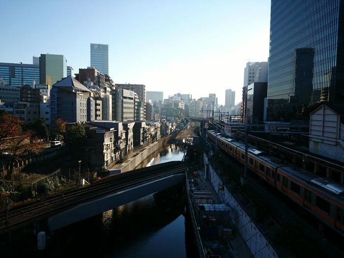 A Day Of Tokyo Cityscape Streetphotography River View Train Station Building Bluesky Mobilephotography Moning Walk
