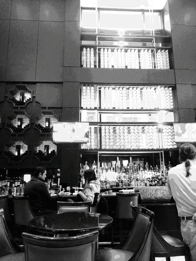 Blackandwhite Manlyplace Adults Only Indoors  Architecture Bar Rows Of Bottles
