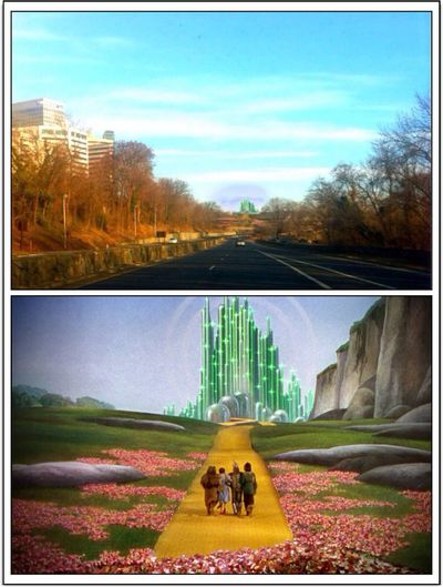"Part of my Recreating Masterpieces goes to film. The ""Wizard of Oz"" is a great musical as well as an epic quest movie (at the same level as Lord of the Rings). This edit is my second landscape edit. It's not on the scale of the other but sometimes less is more. If you look in the distance you will see the Emerald City...the destination for making all our wishes come true. EyeEm Best Edits Happy St. Patricks Day Blend Up My World"