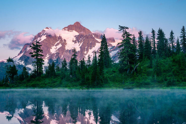 Beauty In Nature Day Forest Lake Landscape Mountain Mountain Range Nature No People Outdoors Range Reflection Scenics Sky Snow Tranquil Scene Tranquility Tree Water