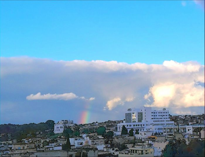 Environment Outdoors Urban Skyline Cityscape City Sky No People Nature Day Rainbow At Bizerta EyeEmNewHere