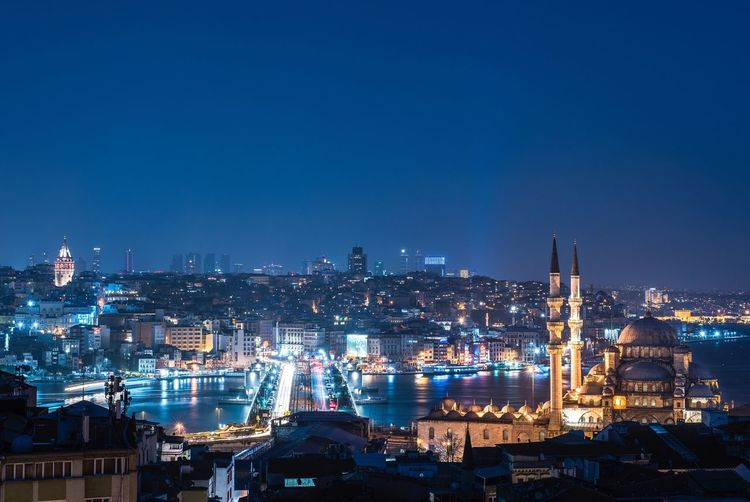 Istanbul Istanbul Turkey Turkey Galata Eminönü Bosphorus Blue Sky Night Nightphotography Nikon Nikonphotography D810 First Eyeem Photo Galata Tower Galata Bridge Nikon D810 Long Exposure