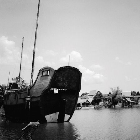 Monochrome Photography Sky Water Nautical Vessel Cloud - Sky Day Outdoors No People Development Boat