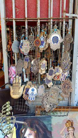 Hamsa amulets for sale in Jaffa... Hamsa Hand Jaffa Market Stall Israel Travel Photography
