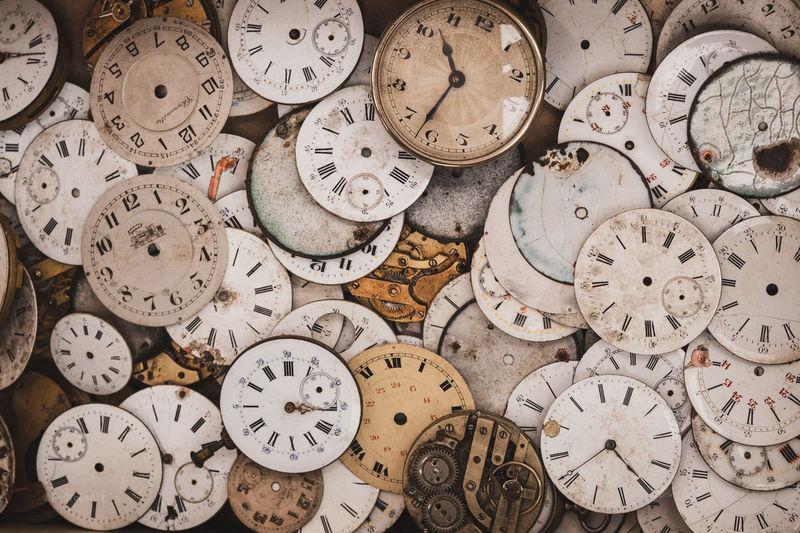 Full frame shot of clock