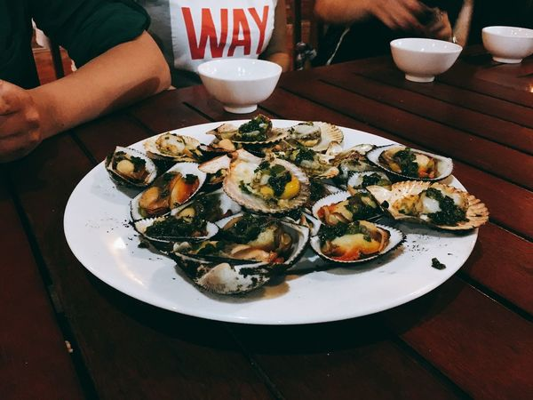 ASIA Dinner Exotic Food Foodporn Garnish Pectinidae Scallops Seafood Shells Shells🐚 Vietnam
