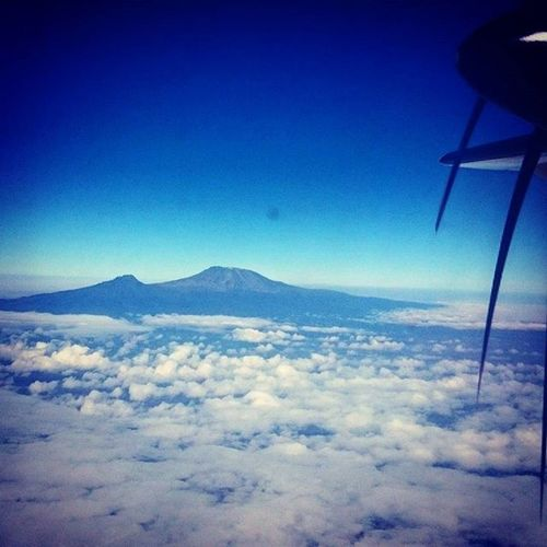 Gods country. Mount Kilimanjaro from high above, and unobstructed by the propeller Kenya Africa Kilimanjaro Kili