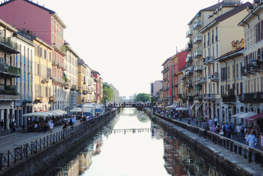 Architecture Building Built Structure Canal Capital Cities  City City Life In A Row Milan Navigli Outdoors Perspective Residential Building Sky Summer The Way Forward Travel Destinations