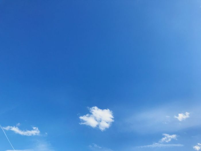Blue Sky Cloud - Sky Low Angle View Beauty In Nature Nature No People Day Backgrounds Tranquility Scenics - Nature Outdoors Tranquil Scene Meteorology Cloudscape Idyllic Copy Space