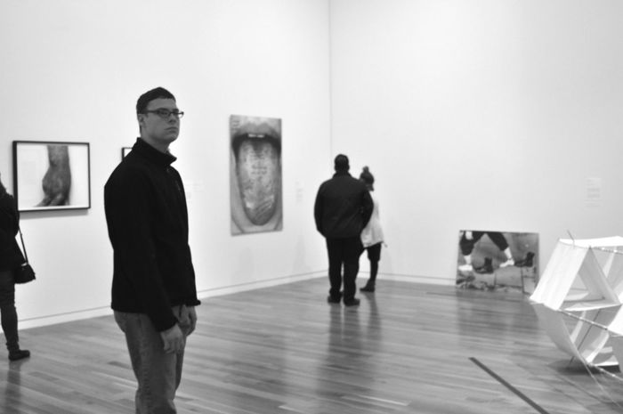 Art Art Museum Black And White CMA Full Length Indoors  Leisure Activity Men Real People Standing Women Visual Creativity